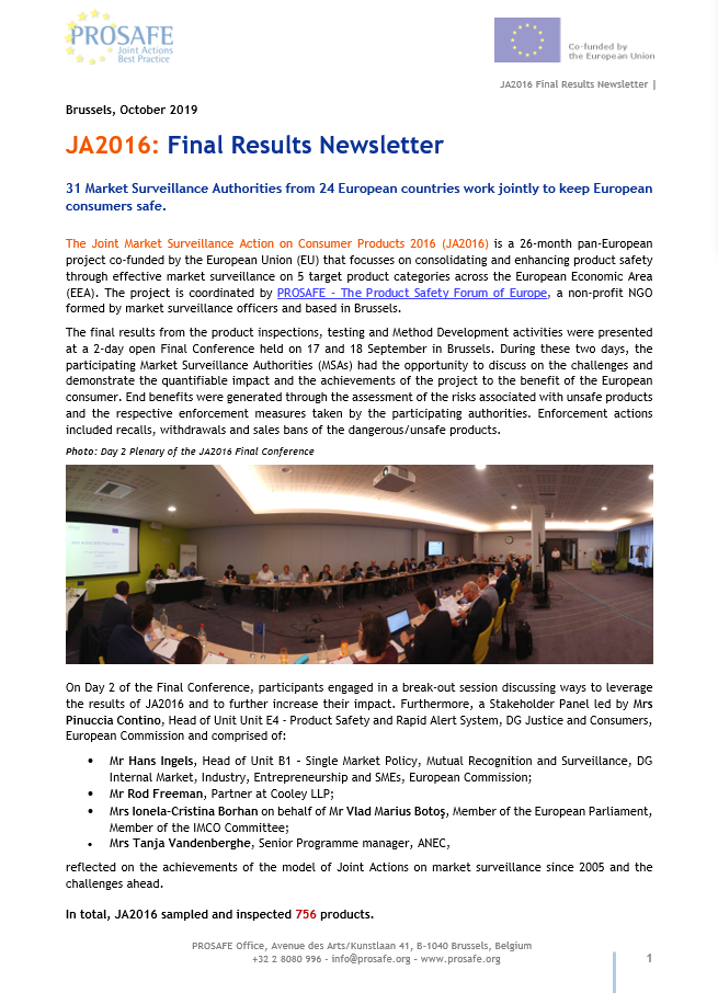 JA2016 Final Newsletter cover page